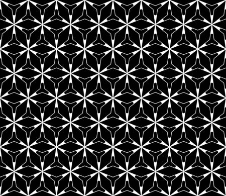 Vector seamless pattern, simple dark geometric triangular lattice structure. Stylish dark monochrome texture. Abstract black & white endless background, repeat tiles. Design for prints, decor, textile