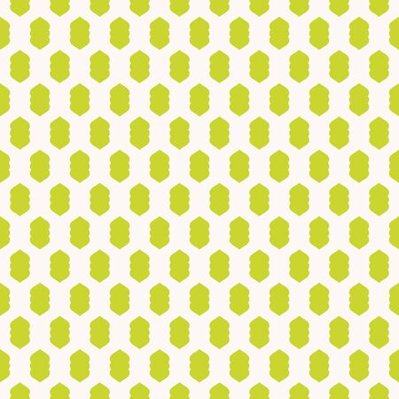 Vector geometric texture with small curved shapes. Abstract modern seamless pattern in bright positive colors, lime green and white. Stylish minimalist background. Funky repeat design for decor, print Illusztráció