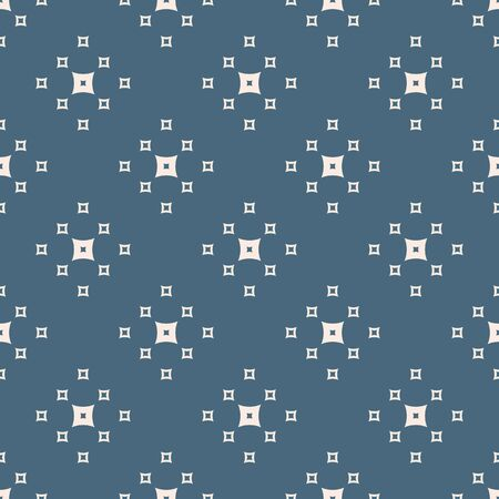Minimalist geometric seamless pattern. Navy blue and pale pink colors. Simple vector abstract background texture with small squares. Minimal repeatable design for decor, prints, wallpapers, textile
