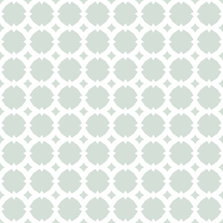 Vector ornamental seamless pattern with star shapes, grid, lattice, net, repeat geometric tiles. Subtle ornament in Moroccan style. Abstract floral background in pastel colors, light green and white Stock Illustratie
