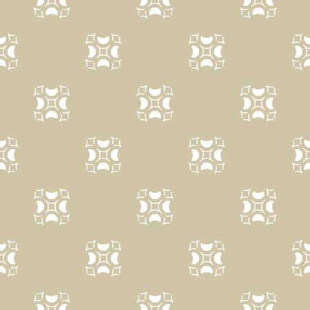 Luxury golden ornament, beige and white texture. Vector geometric seamless pattern with carved shapes. Abstract vintage background in Arabian style. Design for decor, textile, fabric, furniture, cloth Vector Illustratie