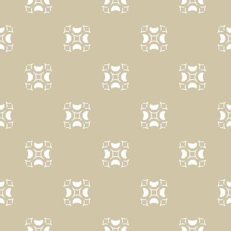 Ornamento dorato di lusso, struttura beige e bianca. Reticolo geometrico senza giunte di vettore con forme intagliate. Sfondo vintage astratto in stile arabo. Design per arredamento, tessile, tessuto, mobili, stoffa Vettoriali