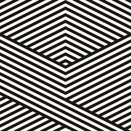 Vector geometric lines pattern. Simple monochrome texture with diagonal stripes, lines, chevron. Abstract black and white graphic background. Stylish modern linear ornament swatch. Sport style design