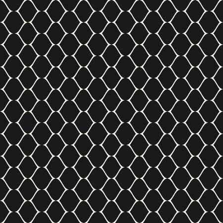 Subtle mesh texture. Vector seamless pattern. Simple illustration of delicate lattice, lace, fishnet. Abstract geometric monochrome repeat background. Elegant dark design for prints, decor, digital Banque d'images - 138342379
