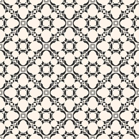 Vector monochrome seamless texture, arabic pattern with floral figures, delicate lattice, mosaic tiles. Abstract geometric background. Design element for decoration, covers, prints, fabric, digital Banque d'images - 138342421