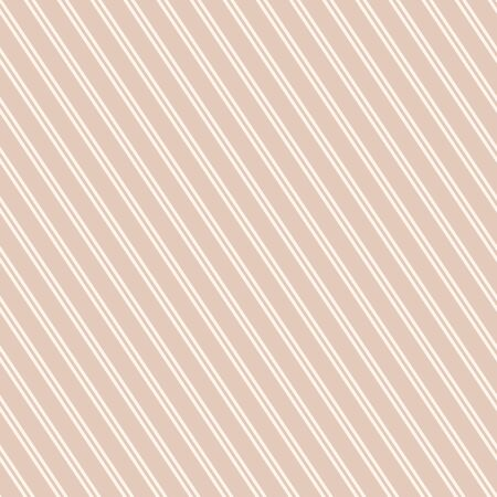 Diagonal stripes seamless pattern. Subtle beige and white vector slanted lines texture. Simple modern abstract geometric striped background. Thin parallel inclined strips. Repeated decorative design