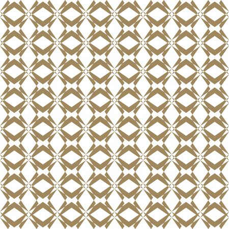 Vector golden seamless pattern in oriental style. Abstract geometric ornament texture with cross lines, grid, lattice. Elegant gold and white background. Luxury ornamental design for decor, textile