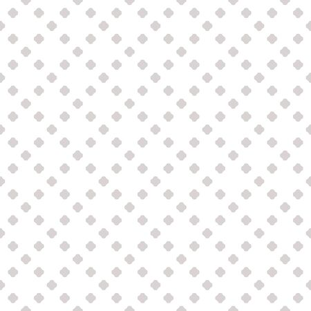 Subtle polka dot seamless pattern. Minimalist geometric background in light gray and white colors. Simple vector abstract texture with dots in square grid. Minimal repeat design for decoration, cloth