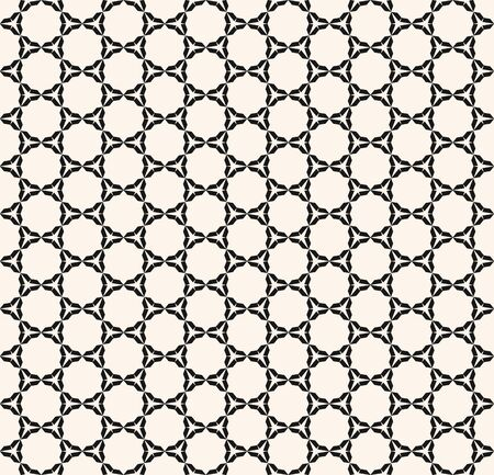 Vector mesh seamless pattern. Simple monochrome geometric texture with delicate grid, weave, lattice, lace, fabric. Abstract minimal black and white background. Repeatable design for print, wrapping Stock Illustratie
