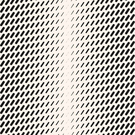 Vector abstract geometric halftone seamless pattern with diagonal dash lines, fading stripes. Extreme sport style background, urban art. Black and white minimal texture. Monochrome repeated design