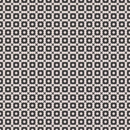 Vector seamless texture, deco art pattern. Monochrome illustration with simple small geometric shapes. Abstract black & white background, repeat tiles. Design element for prints, digital, web, cover