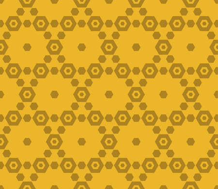 Golden hexagon vector seamless pattern. Abstract geometric texture with delicate hexagonal grid. Elegant luxury background. Repeat design for prints, decoration, fabric, carpet, curtain, covers, cloth