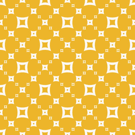 Yellow vector seamless pattern. Simple geometric texture with small outline squares, grid, lattice. Abstract colorful background. Bright positive summer design for decor, fabric, clothing, textile 向量圖像