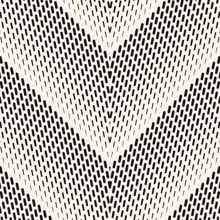 Vector geometric halftone seamless pattern with small lines, fading stripes, zigzag, chevron. Monochrome gradient transition effect. Sport style background. Abstract black and white repeatable texture