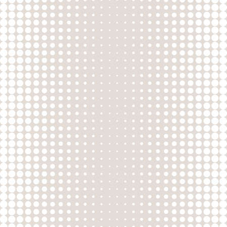 Vector halftone circles seamless pattern. Texture in pastel colors, beige & white. Different sized dots. Modern abstract repeat background. Design element for prints, textile, home decor, cloth, cover