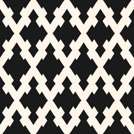 Vector seamless pattern with rhombuses, carved geometrical shapes. Simple monochrome abstract geometric texture. Traditional ornamental background, repeat tiles. Design for home decor, textile, fabric