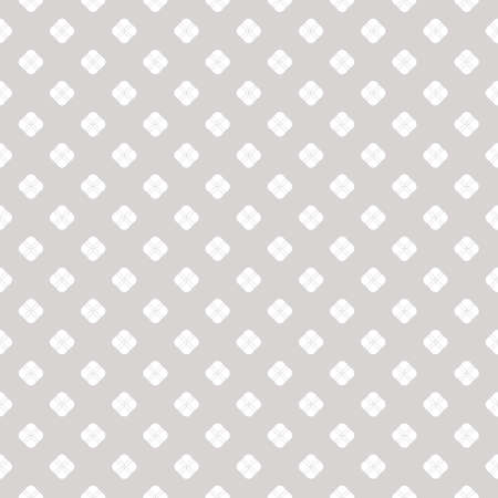 Subtle vector seamless pattern. White and beige floral abstract background. Simple minimalist geometric ornament. Graphic texture with small flower shapes, circles, dots. Delicate repeatable design