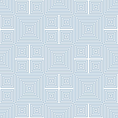 Vector geometric lines pattern. Abstract graphic ornament with stripes and squares. Stylish linear background texture in blue and white colors. Trendy repeatable design for decor, prints, wallpapers