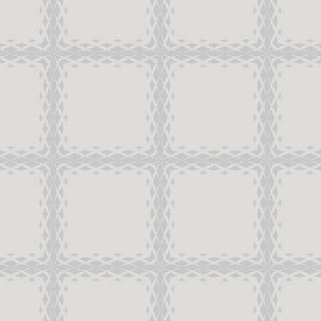 Vector geometric seamless pattern with fading rhombuses, diamonds, net, grid, repeat tiles. Halftone gradient transition effect. Subtle minimal background in light gray color. Modern abstract texture Ilustração
