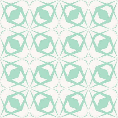 Geometric seamless pattern with diamond grid, cross lines, net, lattice, mesh. Vector abstract green and white texture. Simple modern geometrical background. Repeat tileable design for print, fabric