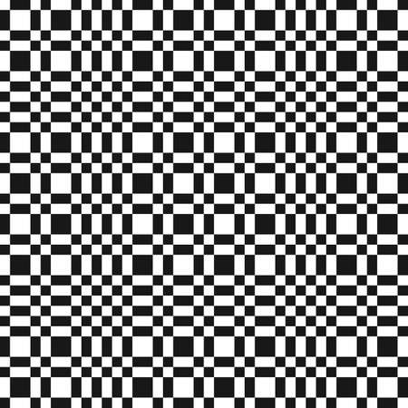 Vector monochrome checkered geometric seamless pattern with small squares, repeat tiles. Abstract black and white minimal chequered texture. Simple modern background. Design for decor, textile, print