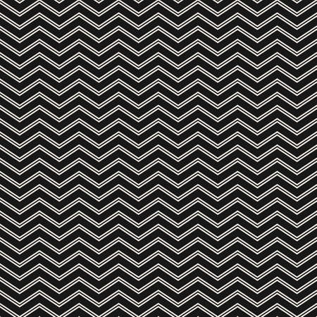 Simple minimal texture with thin zigzag lines, stripes. Black and white abstract geometric background. Modern minimalist monochrome ornament. Subtle dark repeat design