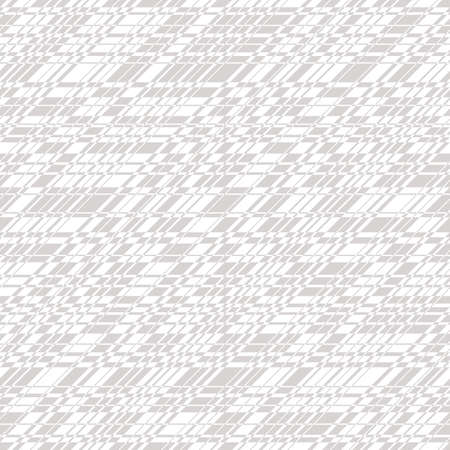 Vector monochrome seamless pattern with cross lines, stripes, grid, lattice, net. Simple minimal texture. Subtle abstract gray and white background. Repeat design for fabric, print, wallpaper, cloth
