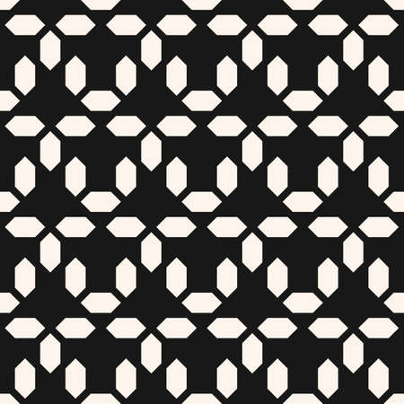 Vector abstract monochrome geometric seamless pattern. Simple ornament with small diamond shapes, mesh, grid. Stylish ornamental background. Modern black and white geo texture. Repeatable design