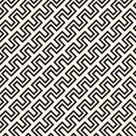 Vector geometric lines seamless pattern. Simple texture with stripes, diagonal snake lines, zigzag. Abstract geometry. Blue and white graphic background. Stylish geo ornament. Repeat decorative design