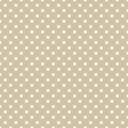Vector golden geometric seamless pattern with small squares. Simple abstract minimalist texture. White and gold minimal background. Luxury repeatable design for decoration, fabric, carpet, textile Vectores
