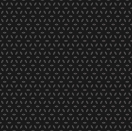 Vector seamless pattern, subtle dark geometric background with tiny linear rhombuses. Simple modern abstract repeat texture. Design element for tileable print, covers, decor, digital, web, textile