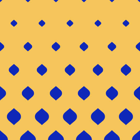Vector halftone pattern. Stylish modern geometric texture, visual transition effect from blue to yellow. Vertical falling rounded shapes. Hipster fashion background. Design for prints, digital, covers