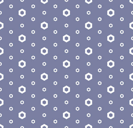 Abstract geometric seamless pattern in trendy pastel colors, blue serenity and white. Simple texture with linear hexagons. Modern stylish repeat minimalist background. Design for decor. Stock vector Vectores