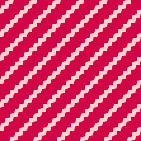 Vector geometric lines pattern. Red and pink abstract graphic striped ornament. Simple geometry, stripes, zigzag, chevron. Subtle modern linear background. Cute design for decoration, fabric, print