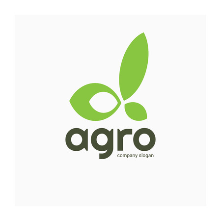 Agricultural company logo. Letter Alpha from leaves. Green eco friendly logotype. Symbol Alpha for agricultural company. Logo for agricultural business or natural organic food. Green leaves icon. Ilustrace