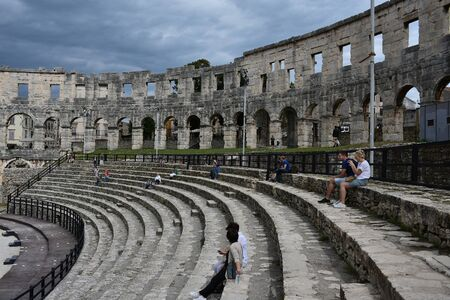 Pula.Croatia.the old amphitheatr.venue of the Gladiator fights in ancient times.