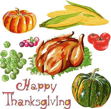 thanksgiving holiday table Illustration
