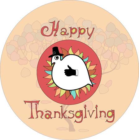 wattle: thanksgiving Turkey 2 Illustration