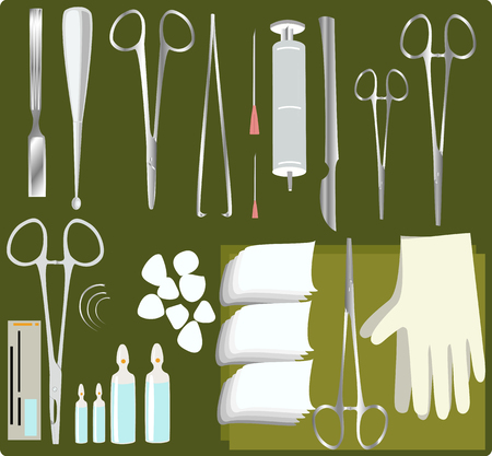 instrument practice: a set of surgical instruments