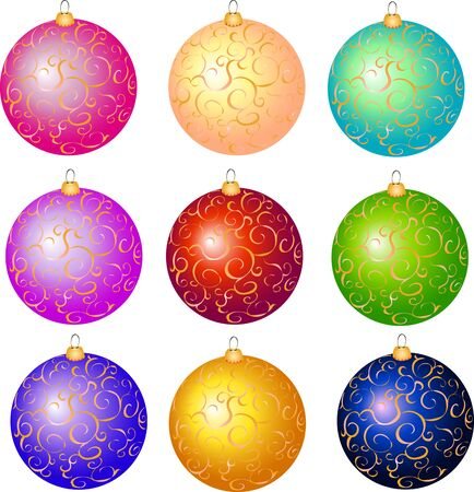 Christmas balls set of 2
