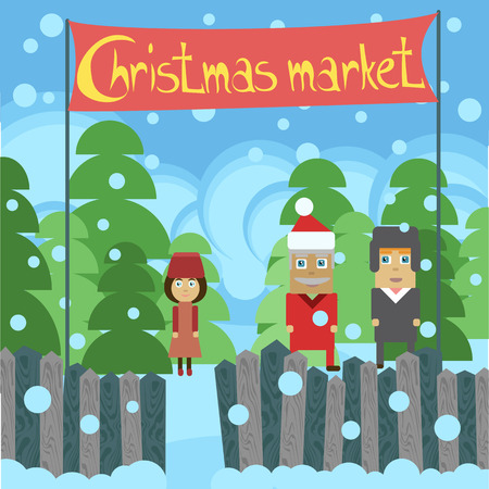 christmas market: christmas market