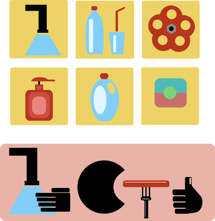 cleanliness: cleanliness and hygiene icons