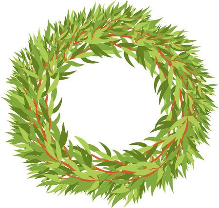 leafy: leafy wreath