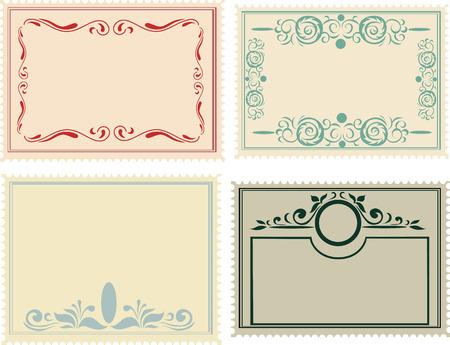 postage: postage stamps set