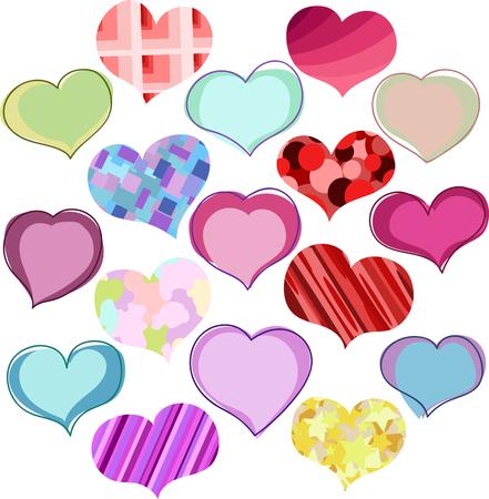 hetero: hearts. set