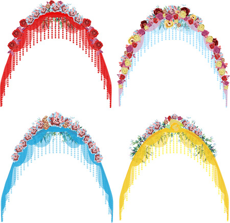 set of wedding arches Illustration