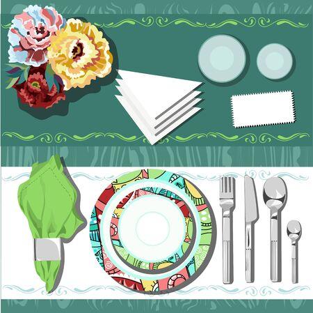 wedding table setting: table setting