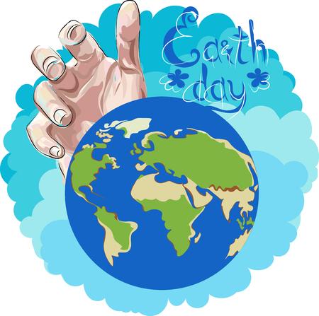 dag van de Aarde. vectorillustratie Vector Illustratie