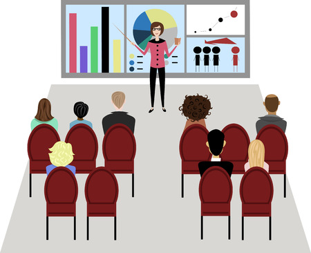 Business seminar illustration.