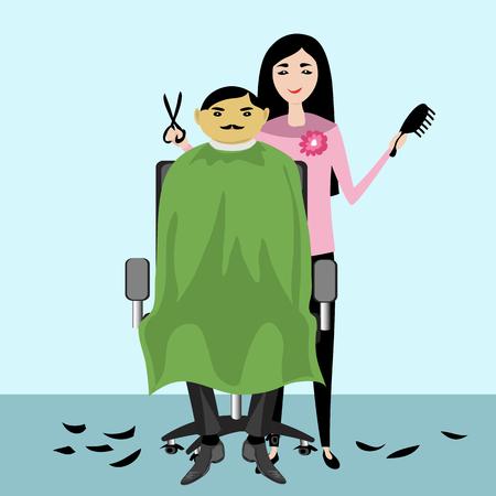 Barber. vector illustration